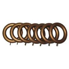 Restoration Hardware Curtain Rod Rings by Drapery Clip Ring Set Ornamental Drapery Rings For 1 38in Wood