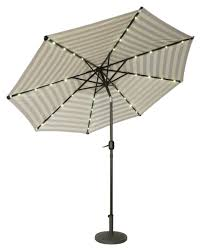 9 Ft Patio Umbrella Frame by 9 U0027 Deluxe Solar Powered Led Lighted Patio Umbrella By Trademark