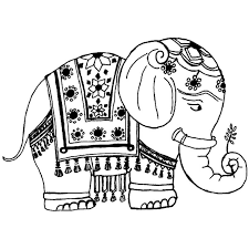 Image Of Indian Elephant Clipart 11087 Skh