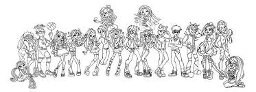 Monster High Coloring Pages All Characters