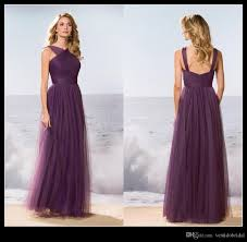 cheap long purple bridesmaid dress 2016 asymmetrical neck ruched