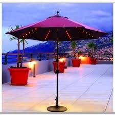Solar Lighted Patio Umbrella by Patio Umbrella With Solar Led Lights Patios Home Design Ideas