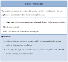 Employee Policy And Procedure Manual Staff Template Resume Ideas