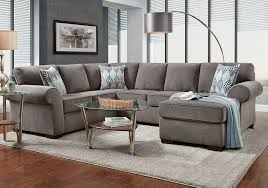 ashton grey sectional with chaise badcock home furniture more