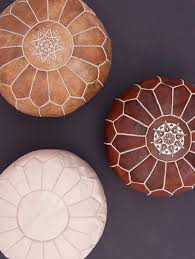 cuir naturel pouf marocain sol ottoman coussin zone méditation