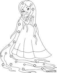 Princess Rapunzel Coloring Pages Page Disney