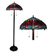 Tiffany Style Torchiere Floor Lamps by Tiffany Style Dragonfly Floor Lamp Amber Target
