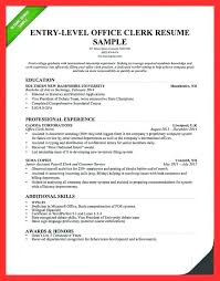 Office Clerk Job Description Resume Sample Samples General Example