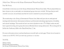 Free Wel e Letter Template for New Member