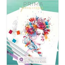 Prima Watercolor Coloring Book 8 X 10