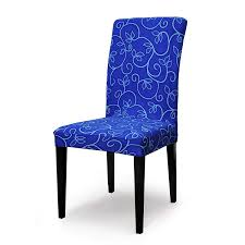 TIKAMI Stretch Dining Room Chair Slipcovers Seat Covers Washable Spandex  Chair Furniture Protector (6pcs, Blue Flower)