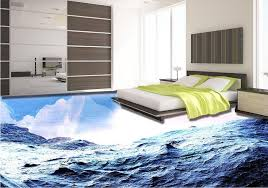 Vinyl Flooring Waterproof Custom 3d Mural Wallpaper Beautiful Tiles Bedroom Floor