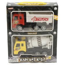 100 Toy Trucks For Kids 2 PC Cement Truck Dump Truck Combo S For Children