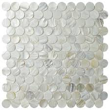 Home Depot Merola Lantern Ceramic Tile by Merola Tile Conchella Penny White 11 1 8 In X 11 5 8 In X 2 Mm