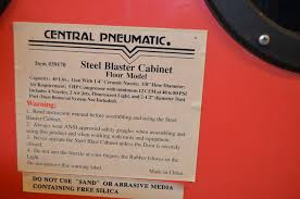 Central Pneumatic Blast Cabinet Manual by Tractors Tools Guns Collectables And Much More Pro Country