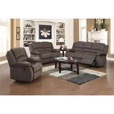 ellis contemporary microfiber 3 piece living room set light brown
