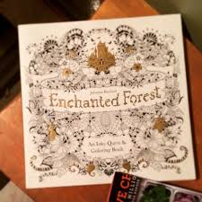 Enchanted Forest An Inky Quest Coloring Book In English Version Original Stock Magical Drawing Relax Yourselves Action Toy Figures From Toys