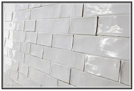 Rustic Style Look Satin White Extraordinary Handmade Subway Tile 2015 2016