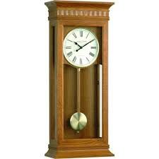 London Clock Company Extra Large Light Oak Westminster Pendulum Wall