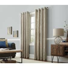 Shop allen roth Amesmore 84 in Linen Polyester Grommet Light