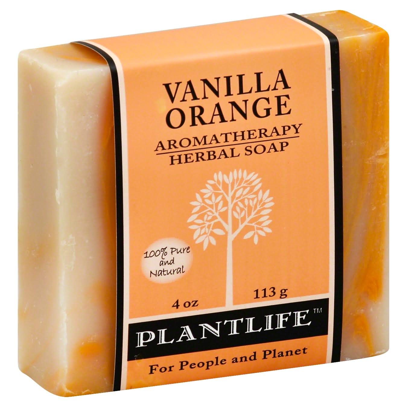 Plant Life Aromatherapy Herbal Soap - Vanilla Orange, 113g