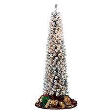 Downswept Slim Christmas Tree by Christmas Tree Pencil Pre Lit Amazon Com