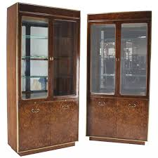 Curved Glass Curio Cabinet Antique by Curio Cabinets 101 For Sale On 1stdibs