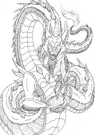 The Lineart Of Dragon
