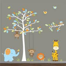 Baby Nursery Decor Monkey Swing Baby Boy Nursery Wall Decor