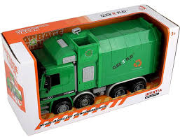 100 Garbage Truck Toy Green Kids Waste Rubbish Recycle Vehicle Trash Can