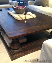 Rustic Style Coffee Table Tables With Stools Square Furniture Living Restoration Hardware Spanish