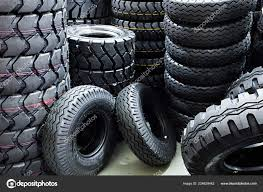 100 Tires For Trucks Big Large Heavy Duty Vehicles Stock Photo Cokacoka