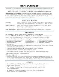 Examples Of Resumes For Internships Example Resume Internship