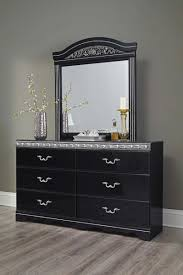Zayley Dresser And Mirror by Furniture