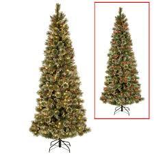 6ft Slim Christmas Tree With Lights by Slim Led Artificial Christmas Trees Christmas Trees The