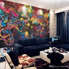 großhandel baum des lebens fototapete psychedelic wallpaper benutzerdefinierte 3d wandbild kunst schlafzimmer schlafzimmer bar shop room decor