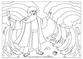 Full Image For Moses Bible Coloring Pages Free Baby Parting The
