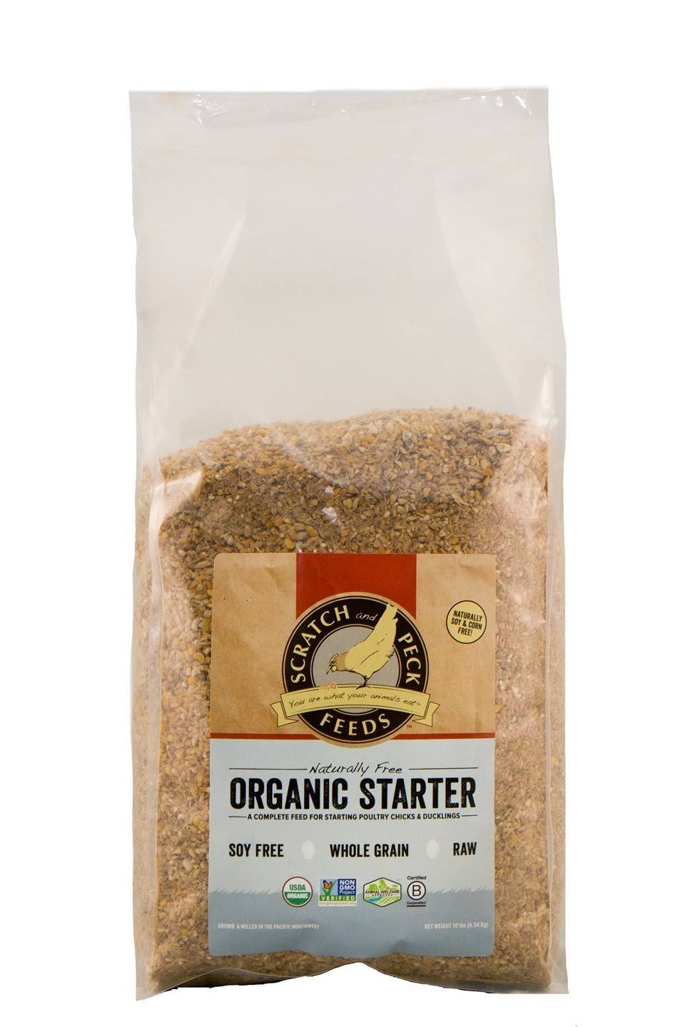 Scratch and Peck Feeds Naturally Free Organic Starter Feed for