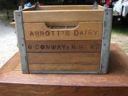 Vintage Wooden Crate For Sale In NH