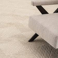casa padrino luxus baumwoll teppich elfenbeinfarben verschiedene größen handgetufteter woll teppich wohnzimmer teppich luxus qualität