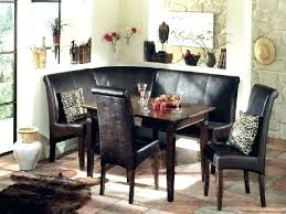 Corner Breakfast Nook Table Set Dining Room Booth Seating Space Saving With Round