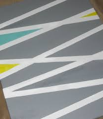 DIY Tape Paint Canvas Art
