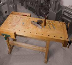 industrial vintage woodworking workbench great wooden work bench