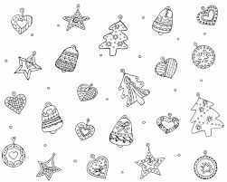 Download Coloring Pages Christmas Decorations For Ornaments Page