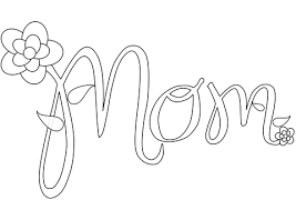 Click To See Printable Version Of Mom Coloring Page