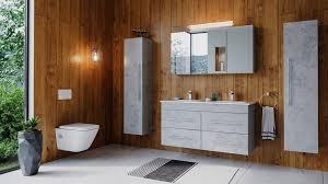 emotion badmöbel set badmöbelset helios 4 tlg inkl spiegelschrank hochschränke beton kaufen otto
