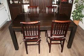 esszimmer 4x stühle 1x tisch kolonialstil massivholz
