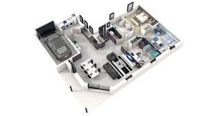plan de maison moderne 3d
