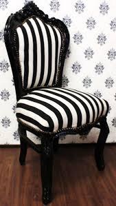 casa padrino barock esszimmer stuhl schwarz weiß streifen schwarz möbel barockes interior