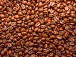 Fresh Roasted Brown Aromatic Mocha Coffee Beans Stock Photo